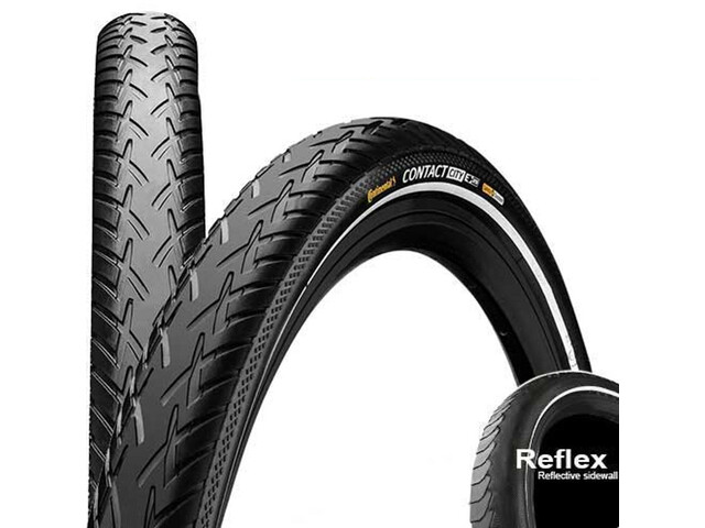 "Continental Contact City Wired-on Tire 26"" E-25Reflex black"